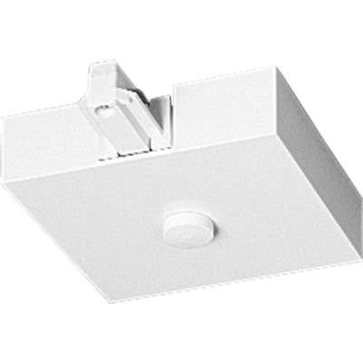 Alpha Trak White Track Lighting T-Bar End Feed Accessory