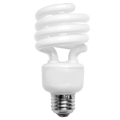 100W Equivalent Bright White (3500K) Spiral CFL Light Bulb