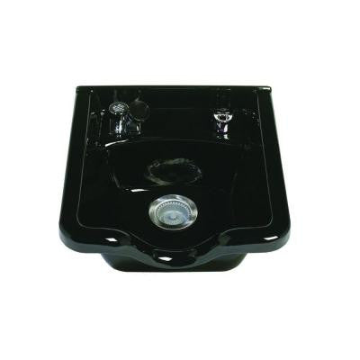 Alpha Wall-Mount Bathroom Sink with Fixtures and 403 Vacuum Breaker in Black