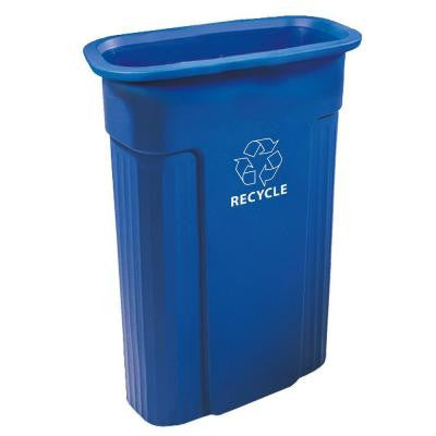23 Gal. Rectangular Recycle Container with Recycle Symbol