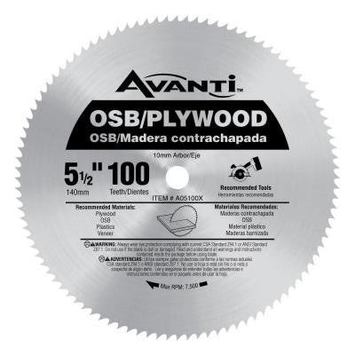 5-1/2 in. x 100-Tooth OSB/Plywood Saw Blade