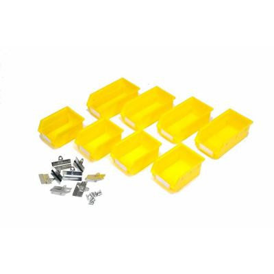 LocBin .212-gal. Small Yellow Wall Storage Bin Kit (16-Pieces)