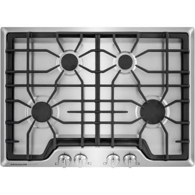 Gallery 30 in. Gas Cooktop in Stainless Steel with 4 Burners