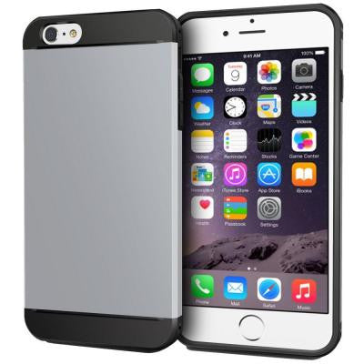 Exec Tough Hybrid Armor Case for Apple iPhone 6 Plus/6S Plus - Silver