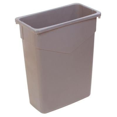 TrimLine 15 Gal. Beige Rectangular Trash Can (4-Pack)