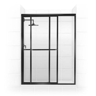Paragon Series 54 in. x 66 in. Framed Sliding Shower Door with Towel Bar in Oil Rubbed Bronze and Clear Glass
