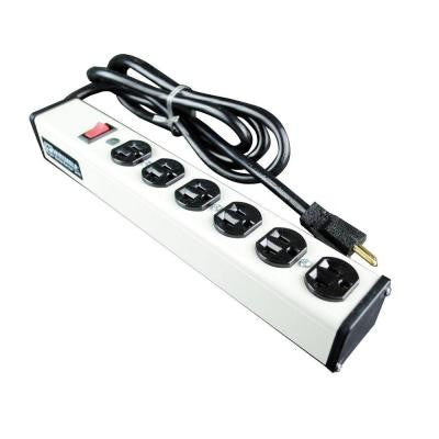 15 ft. 6-Outlet 20-Amp Compact Power Strip with Lighted On/Off Switch