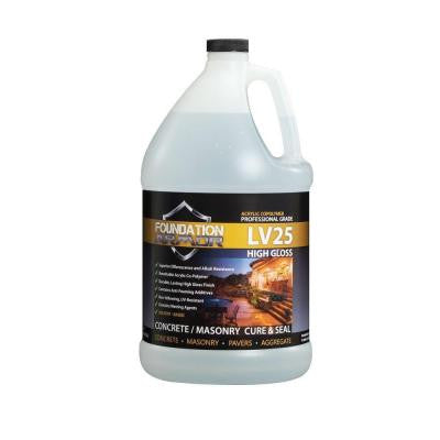LV25 Ultra Low VOC 1 gal. Clear High Gloss Acrylic Co-Polymer Sealer and Curing Compound