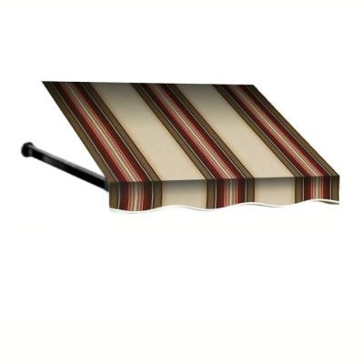 24 ft. Dallas Retro Window/Entry Awning (24 in. H x 36 in. D) in Brown/White Stripe
