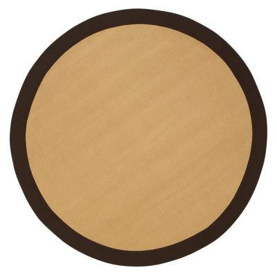 Cove Brown 6 ft. Round Area Rug