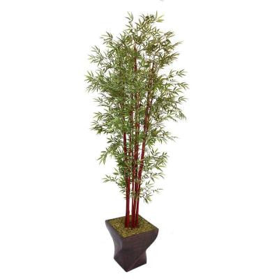 102 in. Tall Harvest Bamboo Tree in 17 in. Fiberstone Planter