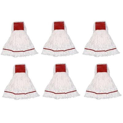 Small 4-Ply Looped End Cotton Mop with 5 in. Band (6-Pack)