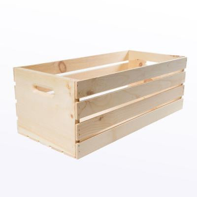 27 in. x 12.5 in. x 9.5 in. X-Large Wood Crate (2- Pack)