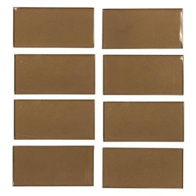 Lava Cake Cold Spray 3 in. x 6 in. Glass Wall Tile