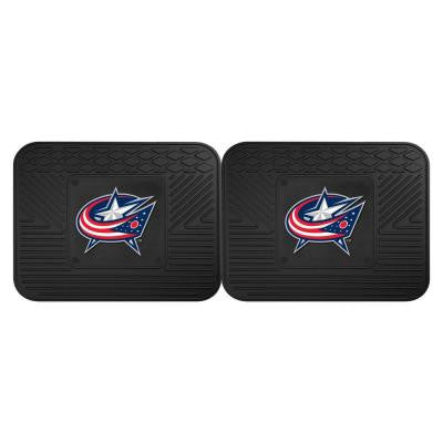 NHL Columbus Blue Jackets Black Heavy Duty 14 in. x 17 in. 2-Piece Vinyl Utility Mat