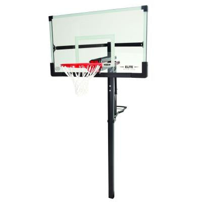 54 in. Tempered Glass Power Lift In-Ground XL Basketball Hoop