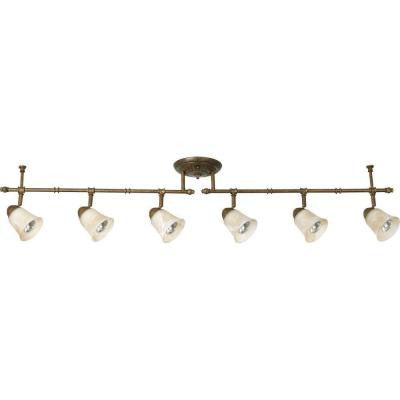 Savannah Collection 6-Light Burnished Chestnut Spotlight Fixture