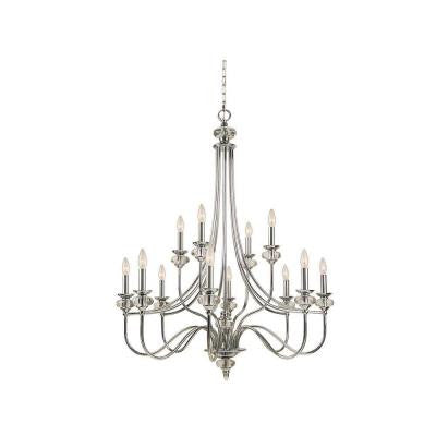 Nottinghill Collection 12-Light Chrome Chandelier