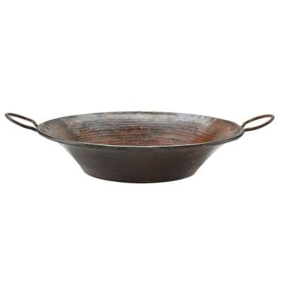 Round Miners Pan Hammered Copper Vessel Sink in Oil Rubbed Bronze
