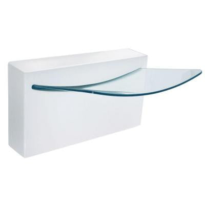 Crystal Wall-Mount Bathroom Sink in White