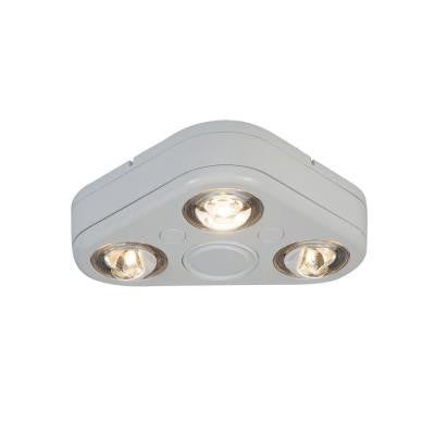 Revolve White Outdoor LED Triple Head Flood Light (3500K)