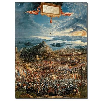 24 in. x 32 in. The Battle of Issus 1529 Canvas Art
