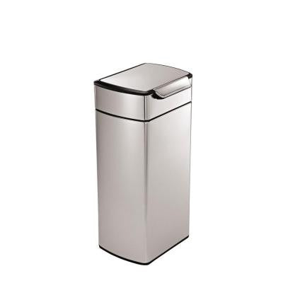 30 l Fingerprint-Proof Brushed Stainless Steel Touch Bar Trash Can