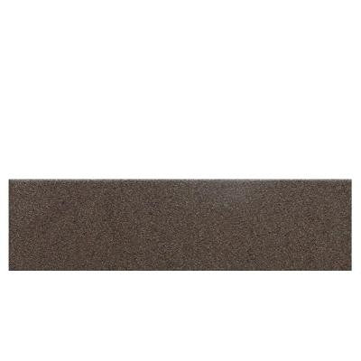 Colour Scheme Artisan Brown Speckled 3 in. x 12 in. Porcelain Bullnose Floor and Wall Tile