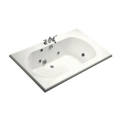 Memoir 6 ft. Whirlpool Tub with Center Drain in White