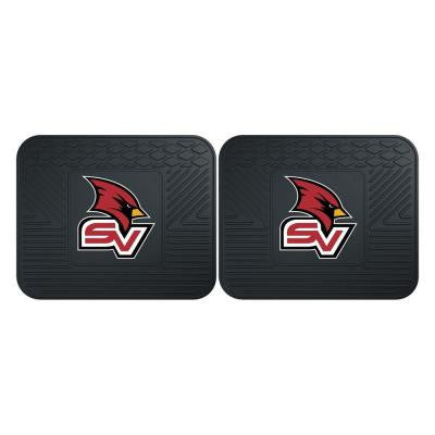 NCAA Saginaw Valley State University Black Heavy Duty 2-Piece 14 in. x 17 in. Vinyl Utility Mat