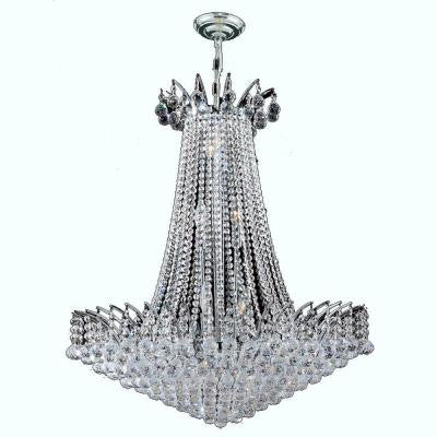 Empire Collection 16-Light Chrome and Crystal Chandelier