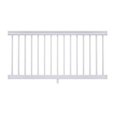Enclave 6 ft. x 3 ft. White Capped Composite Preassembled Rail Kit