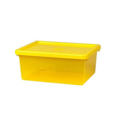 Storage Box Medium with Sorting Tray and lid 14.74 in. x 11.66 in. x 6.32 in. Polypropylene Bright Yellow