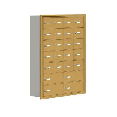 19000 Series 30.5 in. W x 42 in. H x 8.75 in. D 20 A/4 B Doors R-Mounted Keyed Locks Cell Phone Locker in Gold