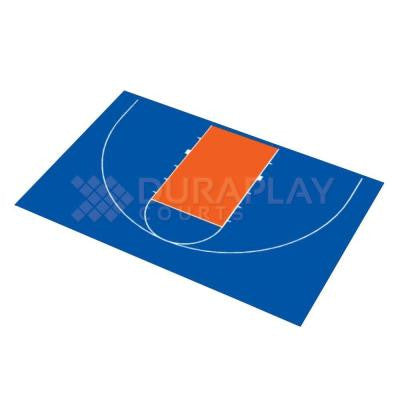 45 ft. 11 in. x 29 ft. 11 in. Half Court Basketball Kit