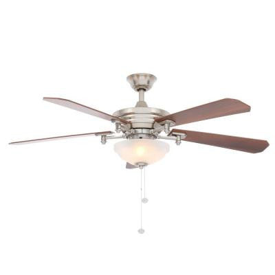Baxter II 52 in. Brushed Nickel Ceiling Fan