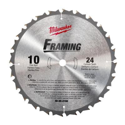 10 in. x 24 Carbide Tooth Circular Saw Blade