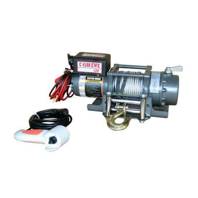 4,500 lb. Capacity 12-Volt Electric Winch with 48 ft. Steel Cable