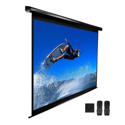 100 in. Electric Projection Screen with Black Case