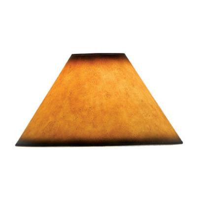 19 in. Brown Leatherette Shade