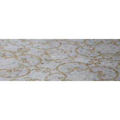 Sample of Marquess Honey Onyx and Calacatta Polished Marble Tile - 3 in. x 6 in. Tile Sample