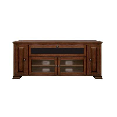 62.12 in. 4-Shelf Home Entertainment Audio/Video Cabinet - Espresso