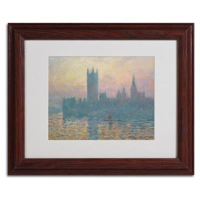 11 in. x 14 in. The Houses of Parliament Matted Brown Framed Wall Art