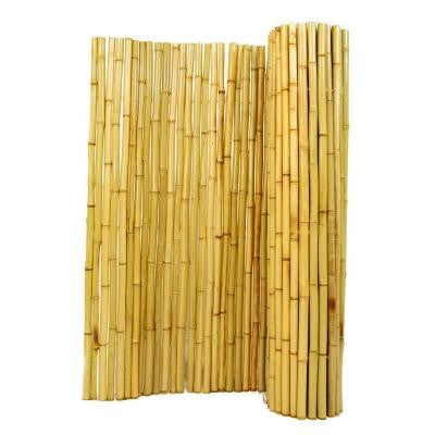 1 in. D x 4 ft. H x 6 ft. L Natural Rolled Bamboo Fence