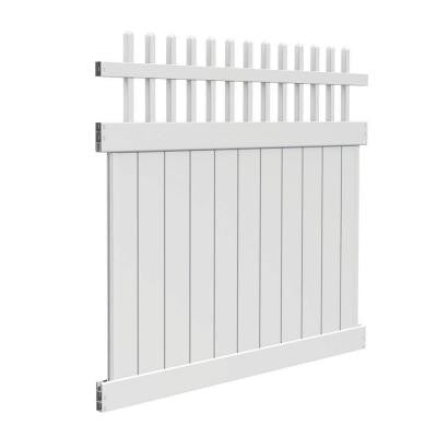 Tennessee 6 ft. x 6 ft. White Vinyl Fence Kit (Actual Size: 70 in. x 67 in.)