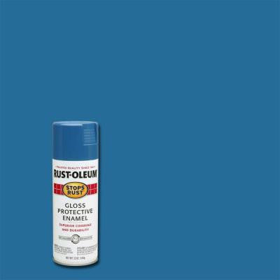 12 oz. Gloss Fresh Blue Protective Enamel Spray Paint (6-Pack)