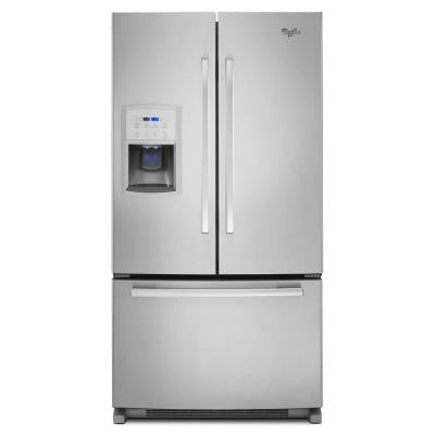 19.7 cu. ft. French Door Refrigerator in Monochromatic Stainless Steel, Counter Depth