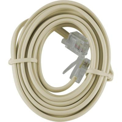 7 ft. Telephone Line Cord - Ivory