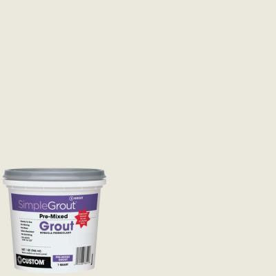 SimpleGrout #381 Bright White 1 Qt. Pre-Mixed Grout