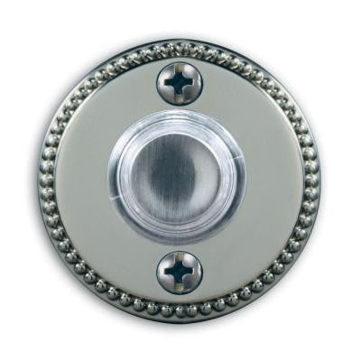 Wired Lighted Satin Nickel Finish Push Button